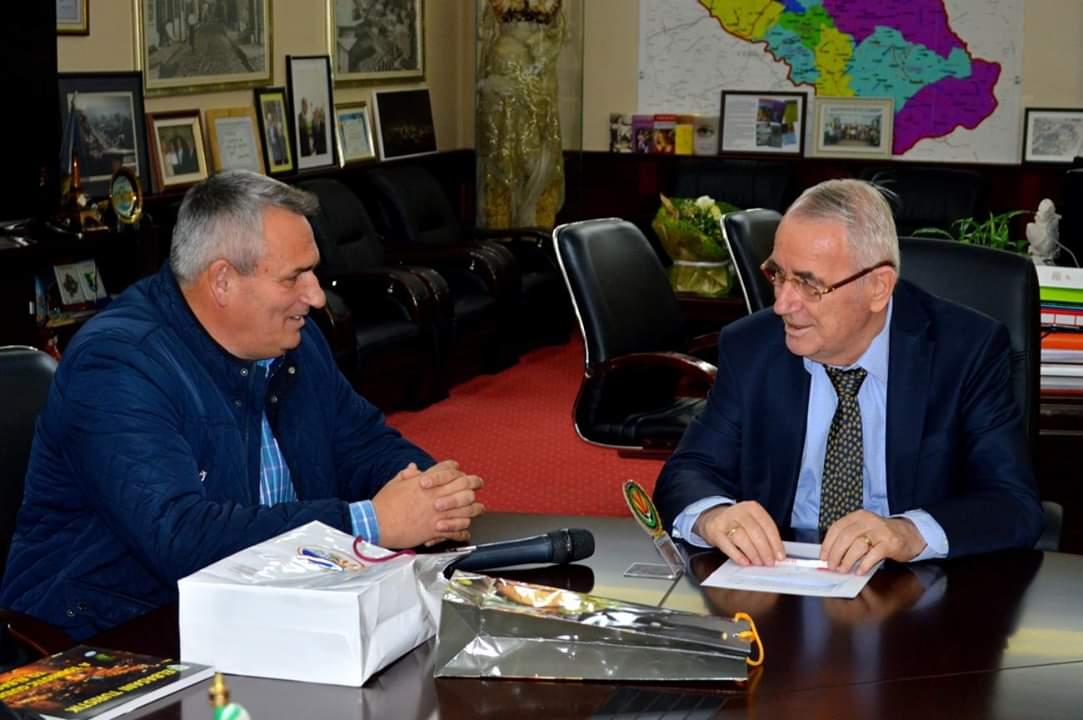 Ногачески оствари средба со градоначалникот на Елбасан