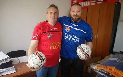 Набавена опрема за фудбалските клубови во општина Дебрца