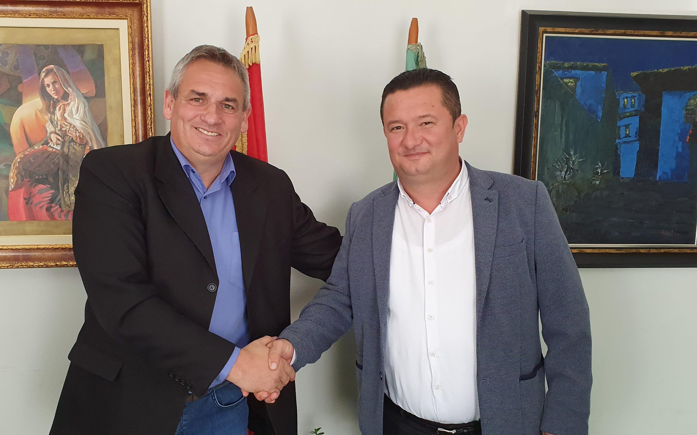 Градоначалникот Ногачески во официјална  посета на општина Грамш-Албанија