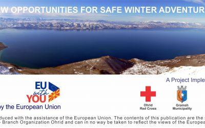 """Презентација на возилата и специјализираната опрема за спасување во зимски услови, во рамки на Проектот: """"Нови можности за безбеден зимски авантуристички туризам""""."""